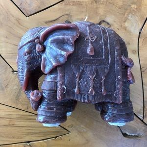 Indian Elephant Candle Super Detailed Red